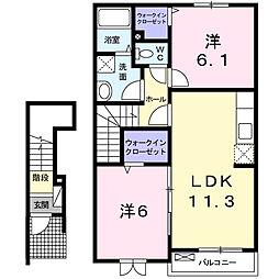 エテルノフェリ−チェⅡ[2階]の間取り