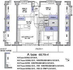 プリム新城II[402号室]の間取り
