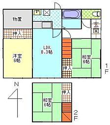 [一戸建] 秋田県秋田市泉北2丁目 の賃貸【/】の間取り