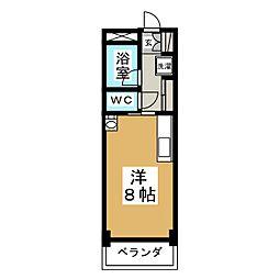 ノーブルビル黒松[3階]の間取り