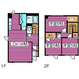 [タウンハウス] 北海道札幌市北区屯田九条6丁目 の賃貸【北海道 / 札幌市北区】の間取り