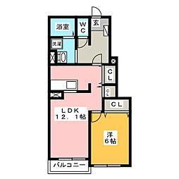 セレーノ III棟[1階]の間取り