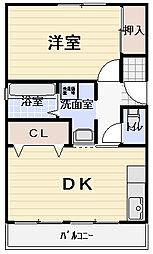 大晃ビルII[2階]の間取り