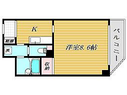 東京都北区志茂2丁目の賃貸マンションの間取り