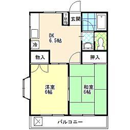 コーポ吉川[ 203号室]の間取り