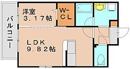シャイン博多東[5階]の間取り