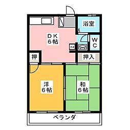 パレスコンフォート[1階]の間取り