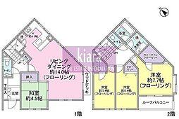 [一戸建] 神奈川県横浜市神奈川区松見町3丁目 の賃貸【/】の間取り
