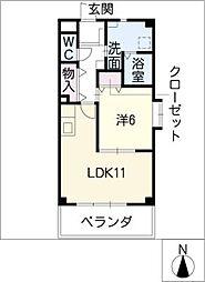 ベルコートMYA[2階]の間取り