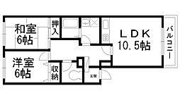 ハイツ西井II[0101号室]の間取り