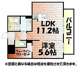 サンシャインタワー陣原[7階]の間取り