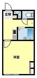 愛知県豊田市市木町3丁目の賃貸アパートの間取り