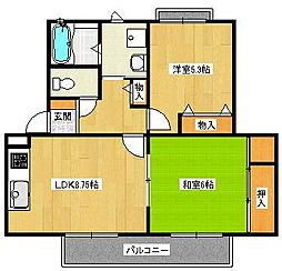 シェーンヴィラK&M 1[2階]の間取り