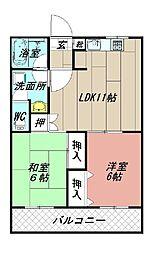ロイヤルシャトー片山[303号室]の間取り