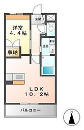 レジデンスK・H[5階]の間取り