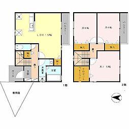 [タウンハウス] 兵庫県神戸市北区谷上西町 の賃貸【兵庫県 / 神戸市北区】の間取り