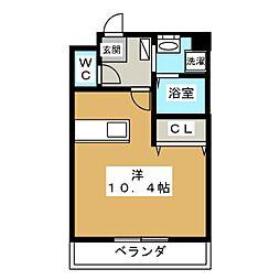 ポラリス[4階]の間取り