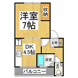 コーポ松村[2階]の間取り
