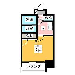 エスリード大須観音プリモ 8階1Kの間取り