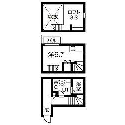 アコモ鳴海[2階]の間取り