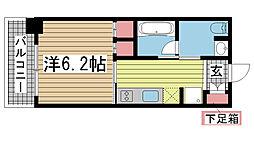 レジディア神戸元町[506号室]の間取り