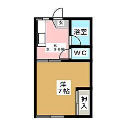 コーポ加藤 A[2階]の間取り