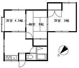 佐野アパート[1階号室]の間取り
