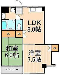 石川ハイム中央本町[302号室]の間取り