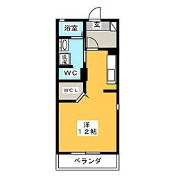 ソレイユ K[1階]の間取り