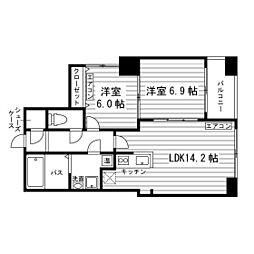 北海道札幌市東区北七条東5丁目の賃貸マンションの間取り
