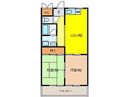 岩田マンション[2階]の間取り