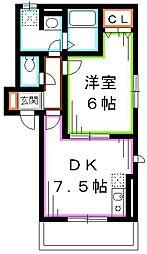 JR総武線 三鷹駅 徒歩11分の賃貸アパート 1階1DKの間取り