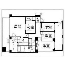 北海道札幌市中央区宮の森一条7丁目の賃貸マンションの間取り
