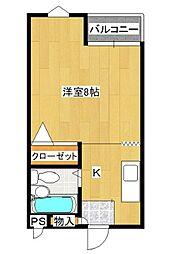 メゾングリーンII[1階]の間取り