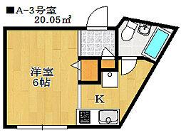 ハウスカルテット[1階]の間取り