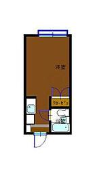 神奈川県横浜市西区藤棚町2丁目の賃貸アパートの間取り