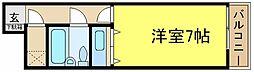 兵庫県加古川市加古川町北在家の賃貸マンションの間取り