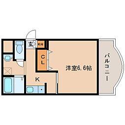 奈良県奈良市紀寺町の賃貸マンションの間取り