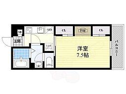阪急京都本線 正雀駅 徒歩2分の賃貸マンション 1階1Kの間取り
