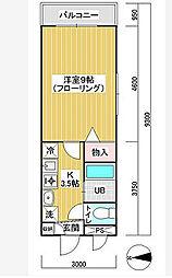 スカイガーデン本羽田 bt[205kk号室]の間取り
