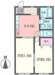 神奈川県横浜市泉区西が岡3丁目の賃貸アパートの間取り