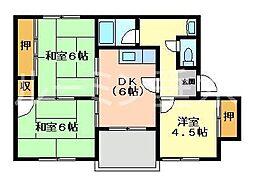 兵庫県加東市上滝野の賃貸マンションの間取り