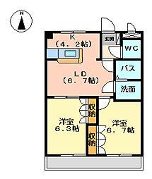 クールメゾン佐藤[3階]の間取り