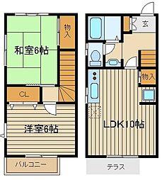 [テラスハウス] 東京都西東京市東町2 の賃貸【/】の間取り