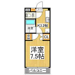 グレースフル芳川A・B[3階]の間取り