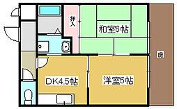 兵庫県加古川市米田町平津の賃貸アパートの間取り