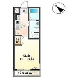 ディアコート織戸[1階]の間取り