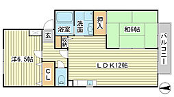 コンフォールパレス A棟[A102号室]の間取り
