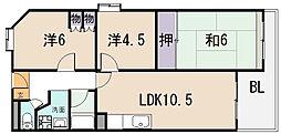 ドムス・瀬口[3階]の間取り