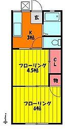 ハイツ齋藤[102号室]の間取り